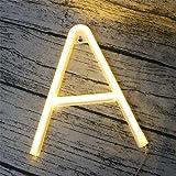DUBENS LED Neon Nachtlicht, 0-9 Nummer 26 Buchstabe Licht Leuchte Alphabet Beleuchtung Nachtlichter,...