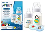 Philips AVENT SCD805/01 Anti-colic Flaschenset (2 Flaschen, 2 Schnuller), transparent