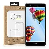 kalibri Folie kompatibel mit Huawei P9-3D Glas Handy Schutzfolie - auch für gewölbtes Bildschirm