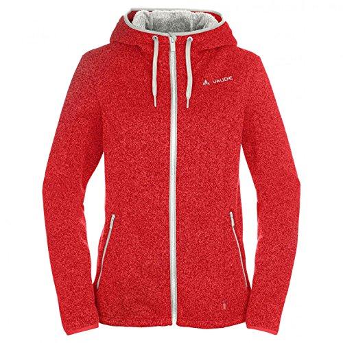 VAUDE - Women's Sentino Jacket II - Veste Polaire - Taille 38, Rouge/Blanc