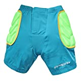 CHIC-CHIC Sport Rembourré Short de Protection Ski Patinage Snowboard Hip Pad Enfant Pantalon Court Trottinnettes Scooter Vélo et Véhicule Skaters Sécurité de Cyclisme Bicyclette (Bleu, 5-8ans/2XS)