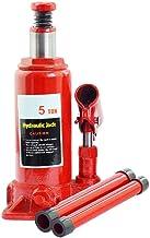 Hydraulic Jack, Car Jack for 12V, 5 Ton Capacity Heavy Duty Vertical Hydraulic Bottle Jack for Car, Truck, Off-Road Vehicl...