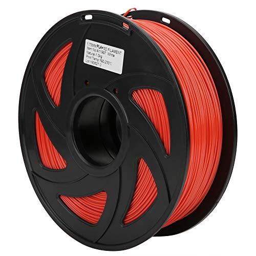 3D Printer Filament, 1.75mm Diameter 35.3oz PLA Filament Bundle Long Rose Red Printing Material Consumables Accuracy +/- 0.05 mm Spool for Most Printer