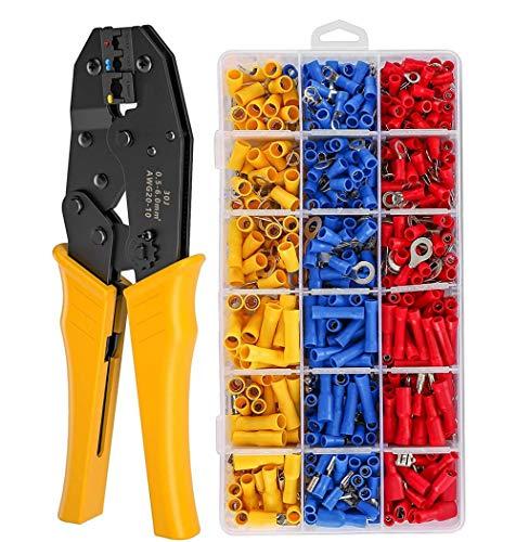 0,5-6,0 mm2Mini-Zange elektrische Drahtcrimpwerkzeuge Rohrklemmen-Box-Kit 700 Stück Abisolier-Crimper-Klemme 20-10 AWG-30J_and_700PCS_Kit
