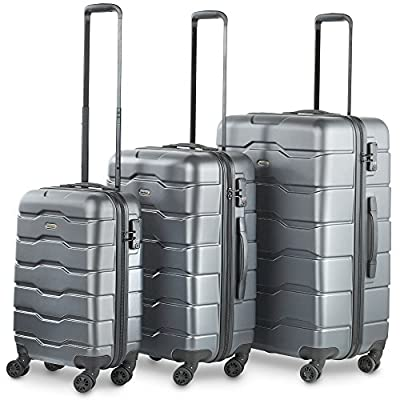 VonHaus 3-Piece Luggage Set made from ABS