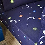 Catherine Lansfield Happy Space Easy Care - Sábana Bajera Ajustable, Color Azul Marino