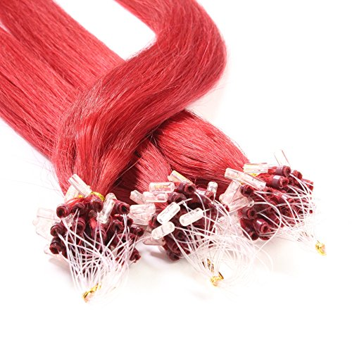 Just Beautiful Hair and Cosmetics Lot de 25 Extensions Remy Loop 1 G 60 cm avec anneaux