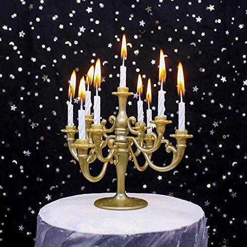 10st heldere kandelaar kaars taart topper gelukkige verjaardag kinderen jongen meisje gunsten baby shower partij bruiloft decoraties levert, vintage goud