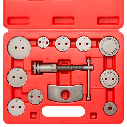 Neiko 20733A Disc Brake Caliper Wind Back Tool Kit (12 Piece) Change Rear Disc Brakes