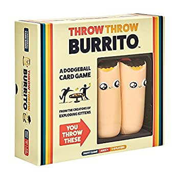 Throw Throw Burrito by Exploding Kittens - A Dodgeball Card Game - Family-Friendly Party Games - Card Games for Adults Teens & Kids - 2-6 Players