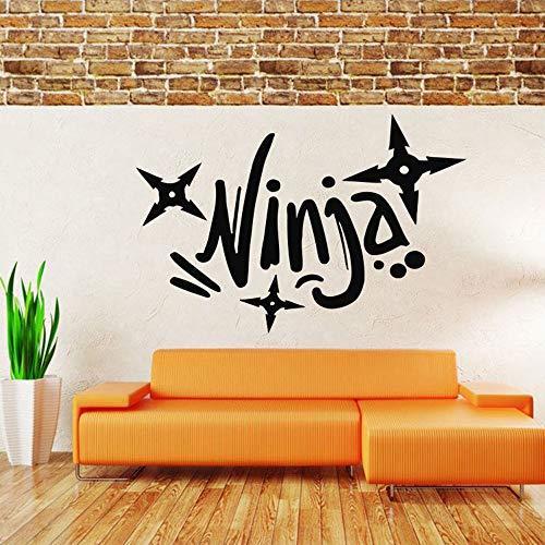 Deportes Ninja Etiqueta de la pared Calcomanía Mural Habitación Diseño Decoración para el hogar