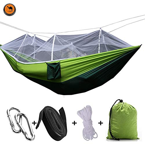 Bureze NEUF ultraléger Parachute Hamac de chasse Moustiquaire double personne Drop Shipping pour meubles d'extérieur Hamac