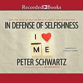 In Defense of Selfishness audiobook cover art