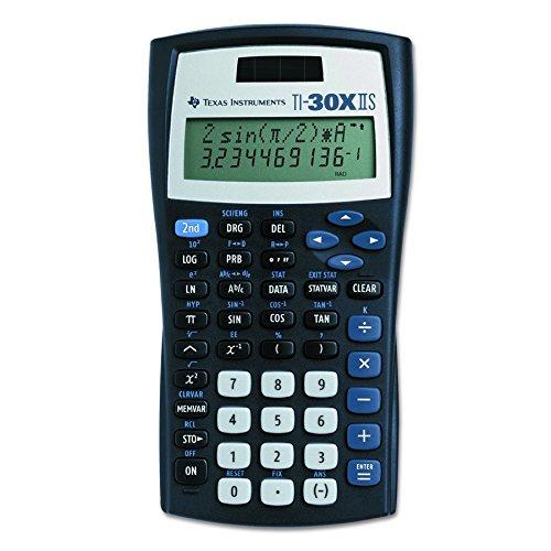 Texas Instruments TI-30X IIS Calculatrice scientifique 2 lignes 1 Pack noir