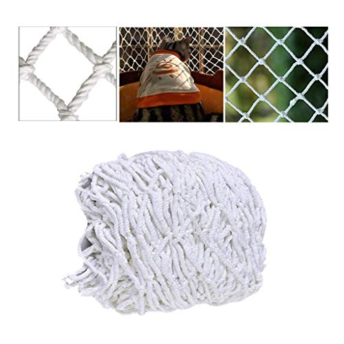BHH Enfant Pet Protection Escalier Balcon Net Chat Net Blanc en Plein Air Remise Partition Net Restaurant Plafond Net Suspendu Vêtements Net Grimpant Net Corde 10cm Maille/6mm Corde Épaisse