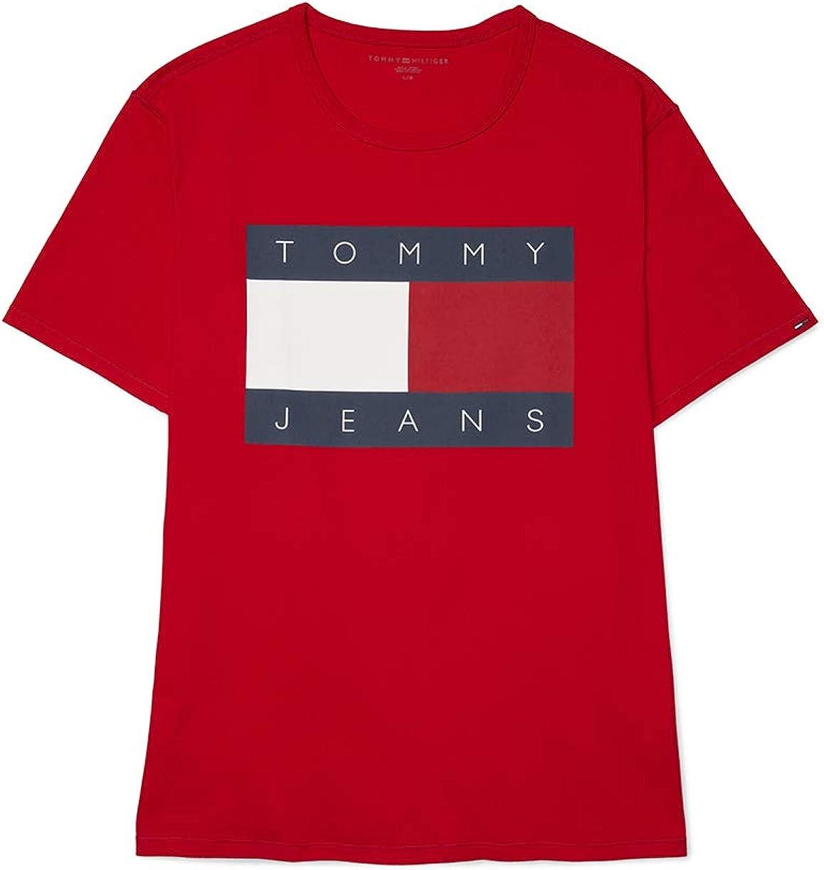 Tommy Ranking TOP15 Hilfiger Men's Adaptive Sensory Shirt Tagless T Max 41% OFF Flag Logo