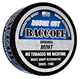 BaccOff, Original Mint Rough Cut, Premium Tobacco Free, Nicotine Free Snuff Alternative (10 Cans)