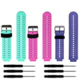 ZSZCXD Soft Silicone Replacement Watch Band for Garmin Forerunner 235/220 / 230/620 / 630/735 Smart Watch (3Pcs,002)