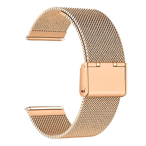 ZXF Correa Reloj, 18mm 22mm 20 mm Reloj de Reloj de Reloj de Reloj de Reloj de Acero Inoxidable Ajustable Bandas de reemplazo de Malla (Color : Rose Gold, Size : 22mm)