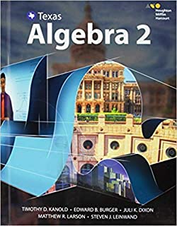 Texas Algebra 2 Teacher Edition with Solutions Key