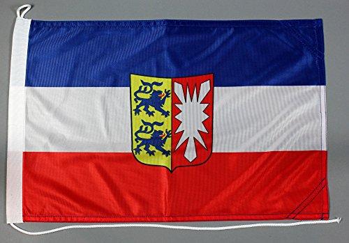Bootsflagge Schleswig Holstein 30 x 45 cm in Profiqualität Flagge Motorradflagge