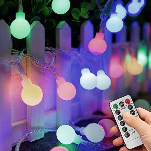 Guirlande Lumineuse Multicolore 10M 100 LEDs - Elegant Life Guirlande lumineuse LED à Piles Petites Boules Décoration, Romantique pour Fête Noël Halloween Mariage Anniversaire Décor Chambre Terrasse