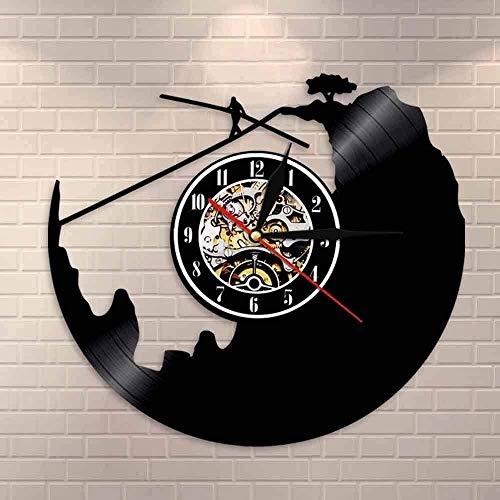 XYVXJ Rope Walker Reloj de Pared Reloj de Registro Deportes Extremos decoración Reloj enrutamiento Explorador Regalo