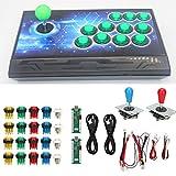 Game Rocker, USB, Joystick, Blau + Rot, Support Burst Keys, für Double Player für PS3(Double DIY arcade machine-color)