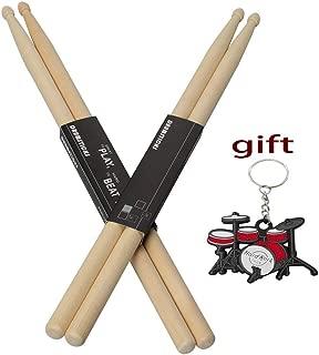 YXwin Drum sticks 5A Drumsticks Maple Wood Tip 2 Pack American Classic Drum Stick For Kids Child Adult Men Women Students Children Music Drum Sticks in Rock Jazz Funk Band