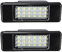 KATUR 2X blanco 18SMD LED luz de matrícula para P eugeot 106 207 307 308 406 407 508 Car Styling