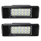 KATUR 2X Blanc 18SMD LED éclairage de Plaque d'immatriculation pour P eugeot 106 207 307 308 406 407 508 Style