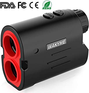 WAKYME Rangefinder, Golf Rangefinder, 6X Laser Range Finder 650 Yards with Slope, Fast Flag-Lock, Angle Measurement, Speed, Continuous Scan, Low Battery Indicator