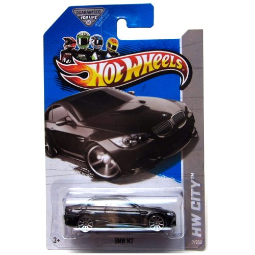 2013 Hot Wheels - Hw City - BMW M3 - Black by Mattel (English Manual)