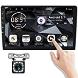 Double Din Android 10.1 inch 2 Din Car Stereo Touch Screen Radio with Bluetooth/GPS/WiFi/FM Radio Receiver/AUX/Dual USB Support Android/iOS Phone Link + Backup Camera