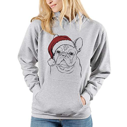 Inkopious Christmas Fudge The French Bulldog Dog Unisex Pullover Hoodie Sweatshirt Medium Grey
