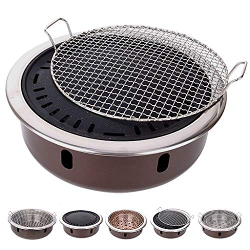 Guoguocy BBQ Barbeque Barbecue Grill,Charcoal Grill,High-end Barbecue Grill,Split Type,Indoor and Outdoor,4-8 People,5 Styles (Color : E)
