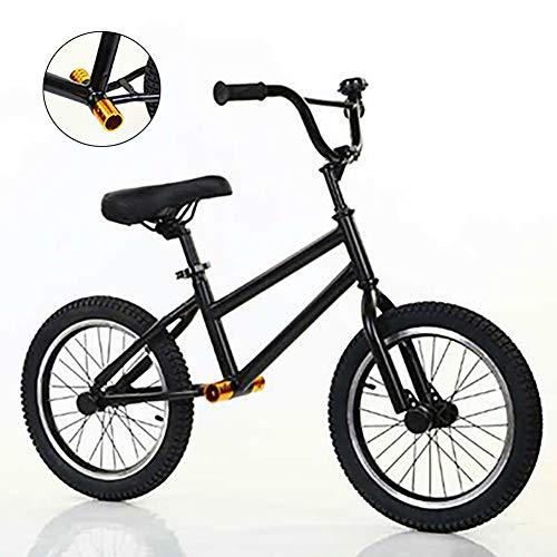 Bicicleta Sin Pedales Bici 16 Pulgadas Negro Niños Grandes Equilibrar Bicicleta, Bicicleta de Entrenamiento Sin Pedales para Adultos / Adolescente, Edad 10 Años En Adelante, Chicos Regalo de C