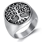 Mens Rings Stainless Steel Tree of Life Size 7-15(10)