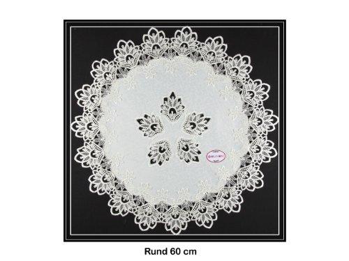 Tischdecke Deckchen, Tischläufer mit Spitze von SOUNON® - Rund ca. 60cm (Model 003)