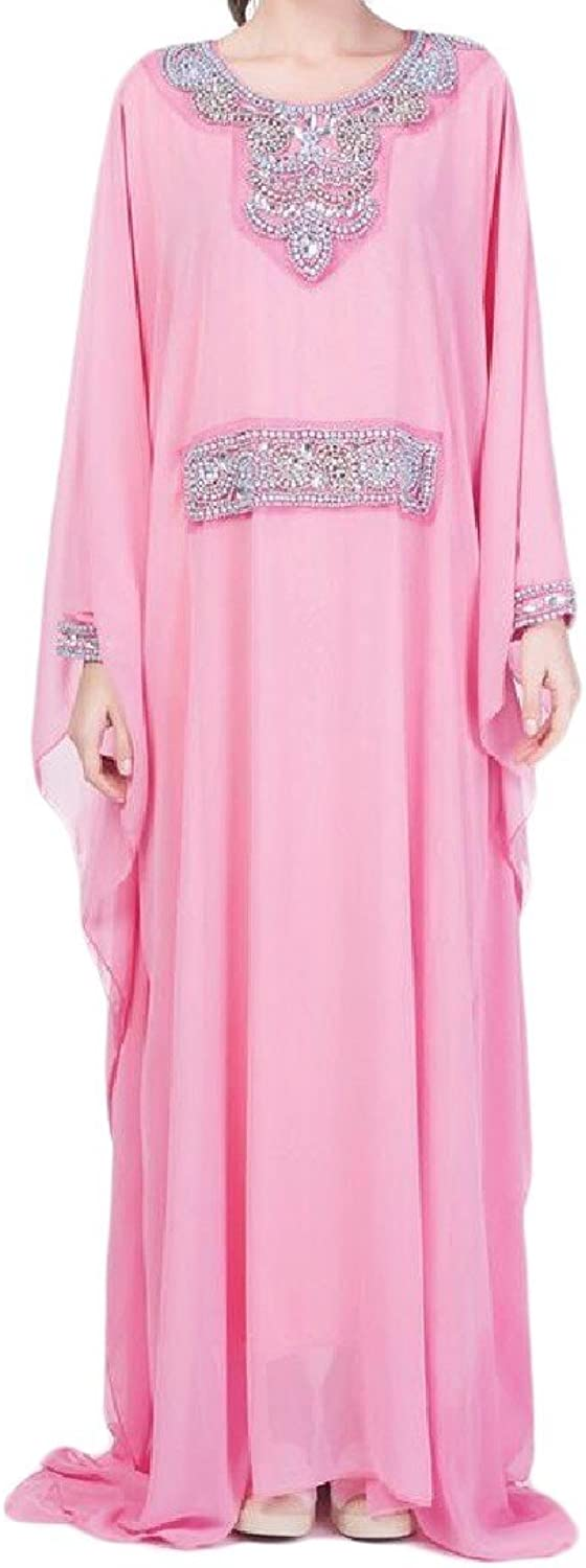 Cheese Women Kaftan DoubleLayer Jalabiyas Sequin Girls Mulit color Muslim Gown Dress