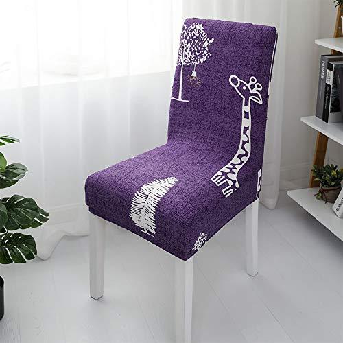VYEKL Weltkarte Esszimmerstuhl Abdeckung Mandala Blume Spandex elastische Schonbezug Anti-Dirty Bunte Sitzbezug Abdeckung 4-TLG