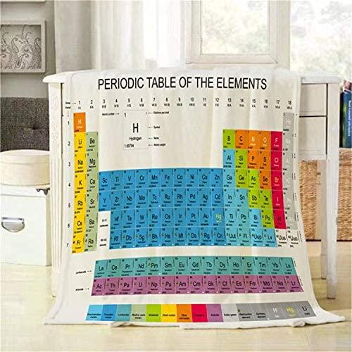 Pzpgeq Elemento Tabla periódica Lanza la Tabla periódica del Elemento de la Manta, súper Suave y Ligero y cómodo Franela con sofá Sofá