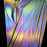 AHMI Regenbogen reflektierender Stoff Holographischer Stoff