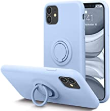 KUMEEK for iPhone 11 Case Fingerprint | Kickstand | Anti-Scratch | Microfiber Liner Shock Absorption Gel Rubber Full Body ...