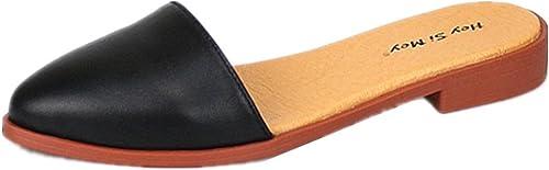 Femmes Chaussons Appartement Chargeurs Chaussures Glisser Sur Pompes Pointu Fermé Doigt De Pied Travail Bureau Décontractée Classis Taille 35-43