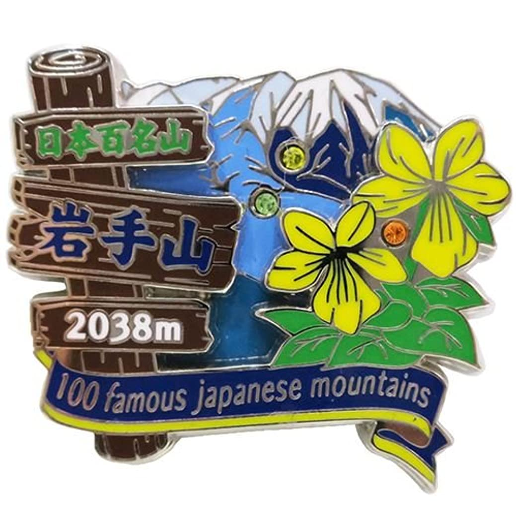 パリティ昇るフォアマン日本百名山[ピンバッジ]2段 ピンズ/岩手山 エイコー トレッキング 登山 グッズ 通販