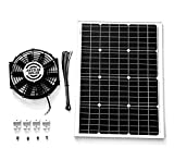 Amtrak Solar Powerful 50-Watt with 12 inch Solar Roof, Attic, Exhaust Fan Quietly Cools and Ventilates your house, garage, RV or boat and protects against moisture build-up (with two fan blades)