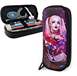 DFHSDD Estuche Pencil Case Multifunction Pen Bag Harley-Quinn-Kiss Leather Pencil Case Holder Office Buggy Pouch Zipper Pen Stationery Bags