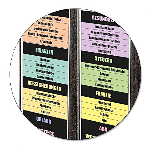 Praktische Ordner-Rücken-Aufkleber - fast 100 einzeln abziehbare Themen für schmale Ordner - 39 mm breit