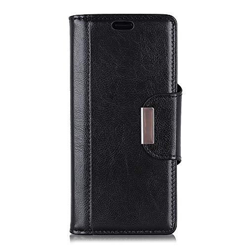 BRAND SET Hülle für HTC Desire 12S Brieftasche Handyhülle Kunstleder Flip Hülle mit sicherer Magnetverschlussverriegelung & Stent-Funktion,geeignet für HTC Desire 12S (Schwarz)